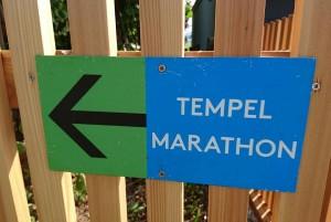 Da gehts lang Die TempelMarathonStrecke wre markiert Wer mit amhellip