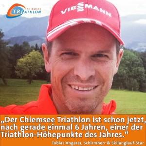 Er ist absoluter Fan des ChiemseeTriathlon SkilanglaufStar und ChiTri17Schirmherr TobiasAngererhellip