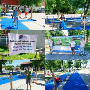 Lets set up the transitionarea of ChiTri16 Chieming Chiemsee Triathlonhellip